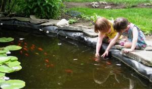 Martha Delaney Salem girls at fish pond