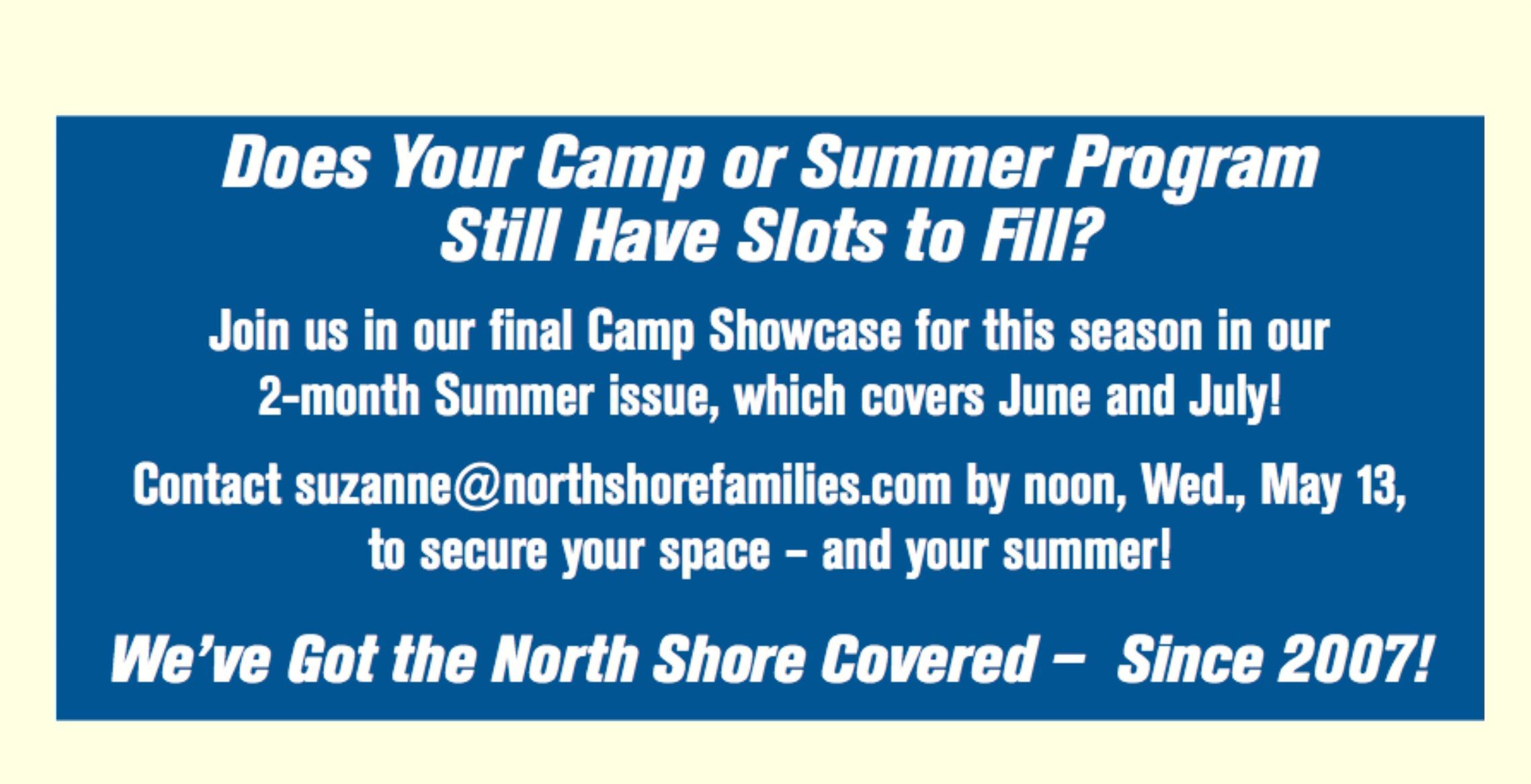 Summer Camp Showcase Ad Deadline Tile